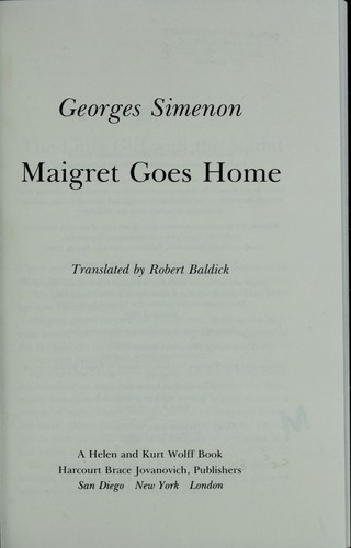 Maigret goes home