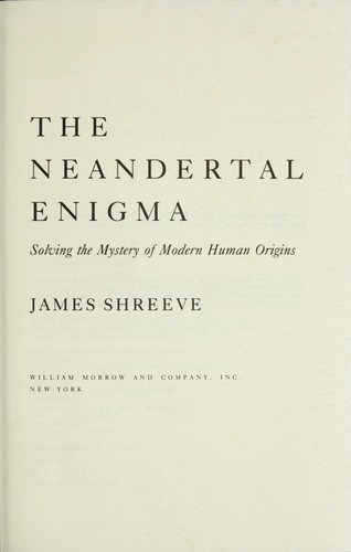 The Neandertal enigma