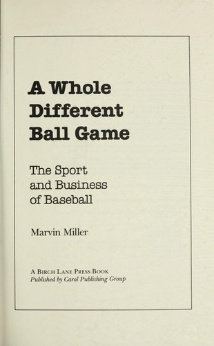 Download A whole different ball game
