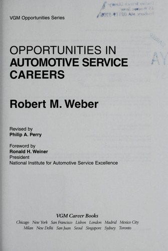 Opportunities in automotive service careers