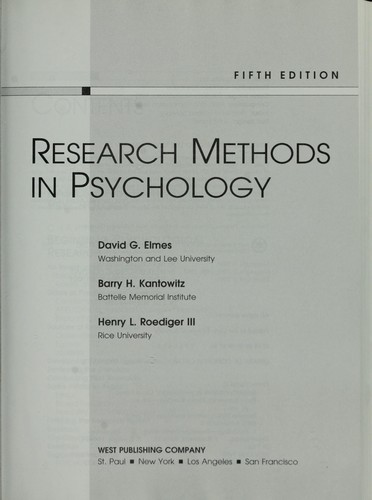 Download Research methods in psychology