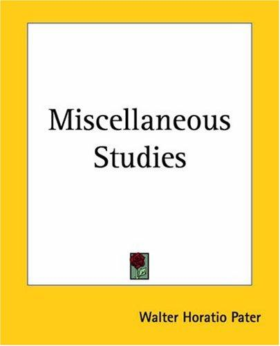 Download Miscellaneous Studies