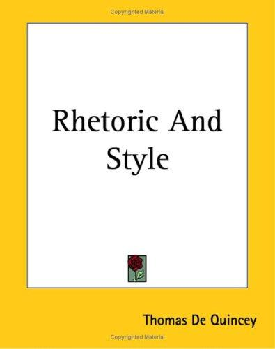 Download Rhetoric And Style