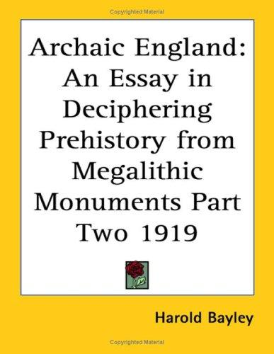 Download Archaic England