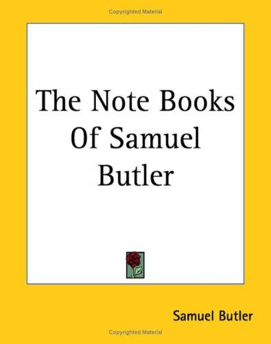 Download The Note Books Of Samuel Butler