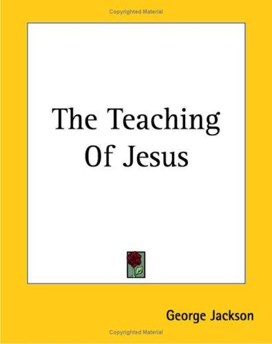 Download The Teaching of Jesus