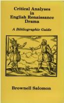 Download Critical analyses in English Renaissance drama