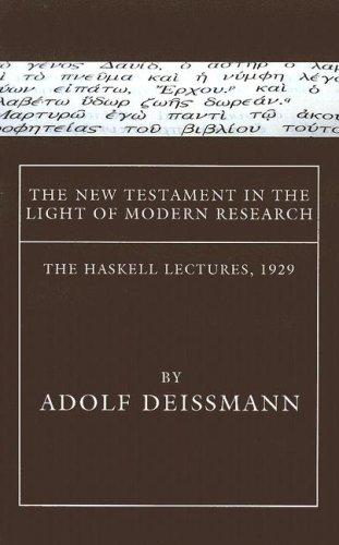 Download The New Testament in the Light of Modern Research