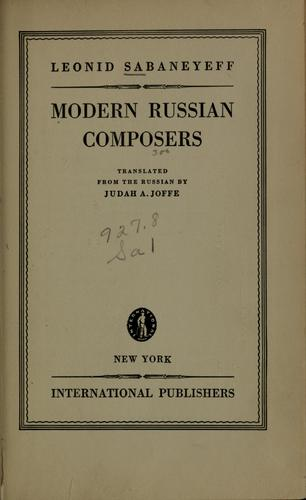 Download Modern Russian composers