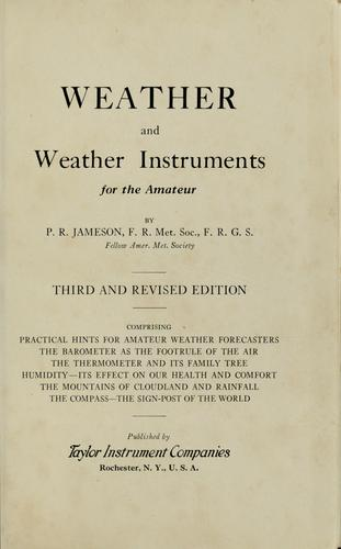 Download Weather and weather instruments for the amateur