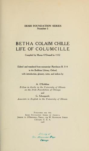 Betha Colaim chille.