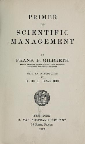 Download Primer of scientific management