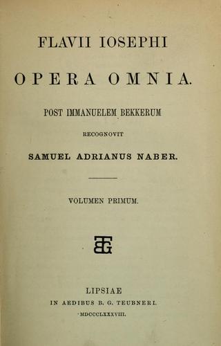 Flavii Iosephi Opera omnia