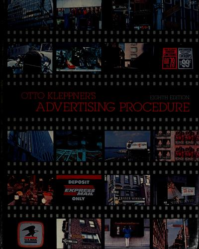Advertising procedure by Otto Kleppner