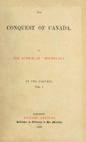 Download The conquest of Canada.
