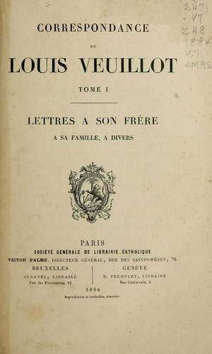 Correspondance de Louis Veuillot.