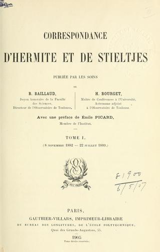 Download Correspondance d'Hermite et de Stieltjes.
