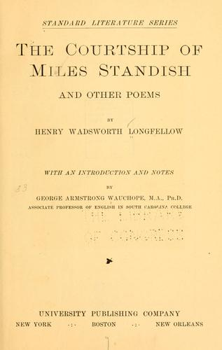 Download The courtship of Miles Standish, and other poems …