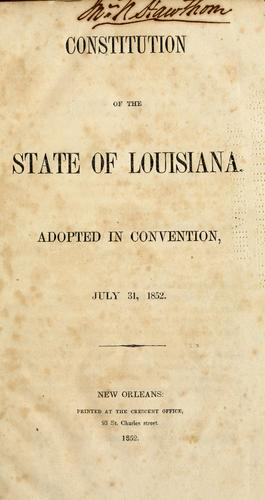 Download Constitution of the State of Louisiana