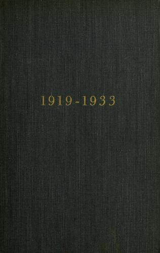 Download The crisis of the old order, 1919-1933.