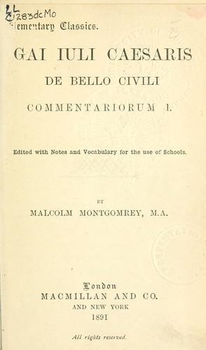 De bello civili commentariorum I