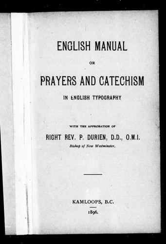 English manual, or, Prayers and catechism in English typography