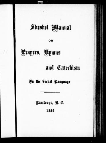 Download Sheshel manual, or, Prayers, hymns and catechism in the Sechel language