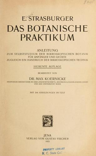 Download Das botanische praktikum