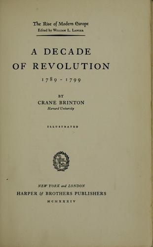 Download A decade of revolution, 1789-1799