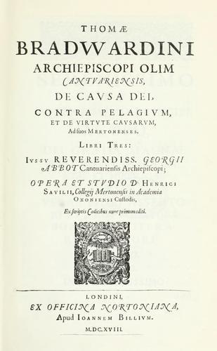 De causa Dei contra Pelagium et de virtute causarum.
