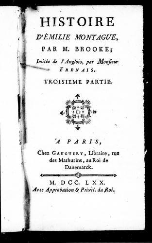 Histoire d'Emilie Montague