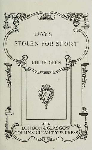 Download Days stolen for sport
