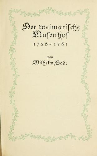 Der weimarische Musenhof, 1756-1781