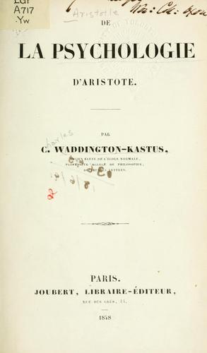 De la psychologie d'Aristote