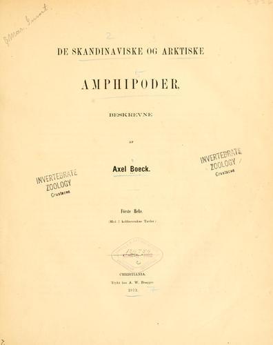 De Skandinaviske og arktiske Amphipoder.