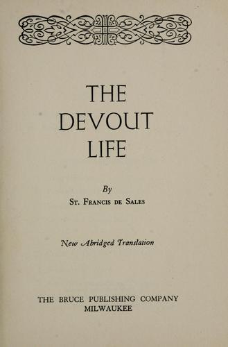 Download The devout life