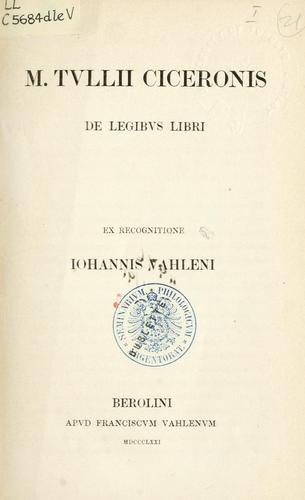 De legibus libri
