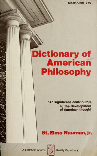 Download Dictionary of American philosophy