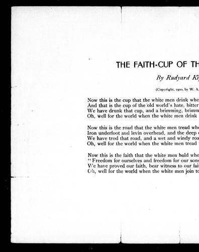 The faith-cup of the white men by Rudyard Kipling