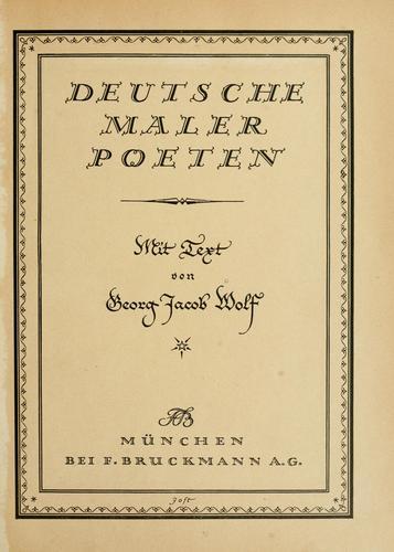 Download Deutsche Maler-Poeten
