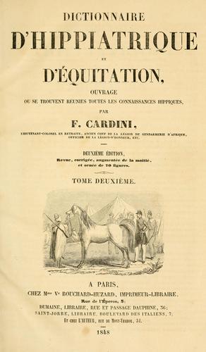 Download Dictionnaire d'hippiatrique et d'équitation