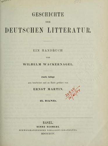 Deutsches Lesebuch.