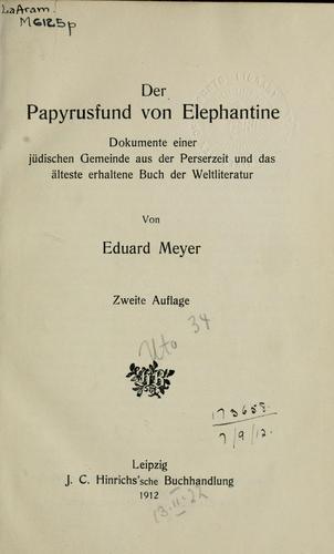 Download Der Papyrusfund von Elephantine