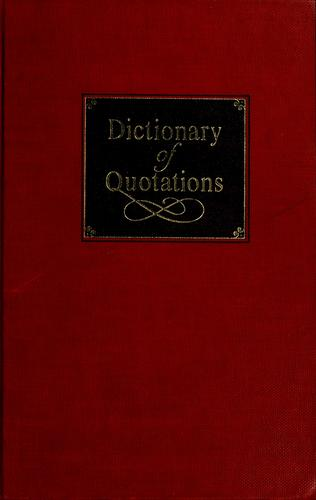 Dictionary of quotations