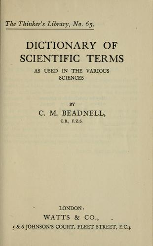 Download Dictionary of scientific terms