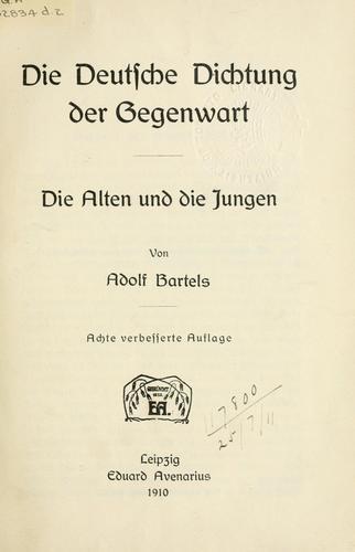 Download Die deutsche Dichtung der Gegenwart