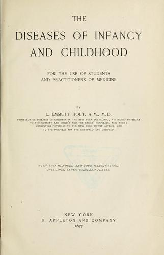 Download The diseases of infancy and childhood