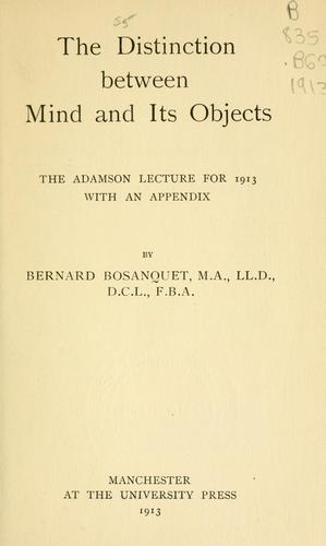 Download The distinction between mind and its objects