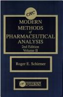 Download Modern methods of pharmaceutical analysis