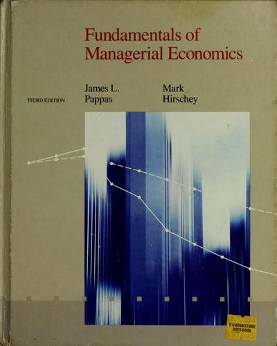 Download Fundamentals of managerial economics